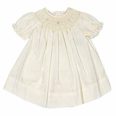 Petit Ami Baby Girls Sweet Maize Yellow Smocked Dress with Bloomers