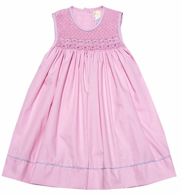 Petit Ami Baby / Toddler Girls Sleeveless Pink Smocked Dress