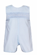 Petit Bebe Baby / Toddler Boys Blue Poplin Smocked Jon Jon