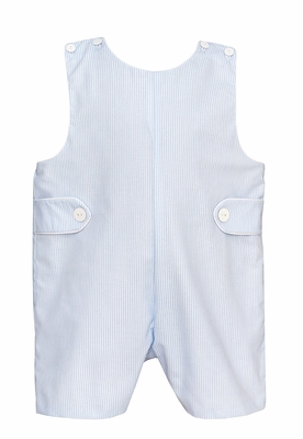 Petit Bebe Baby / Toddler Boys Blue Striped Shortall with Tabs