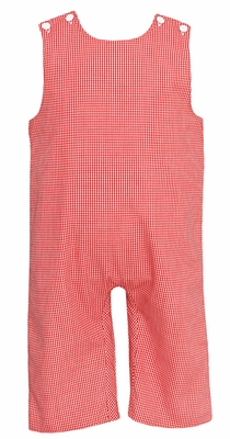 Petit Bebe by Anavini Infant / Toddler Boys Red Check Longall
