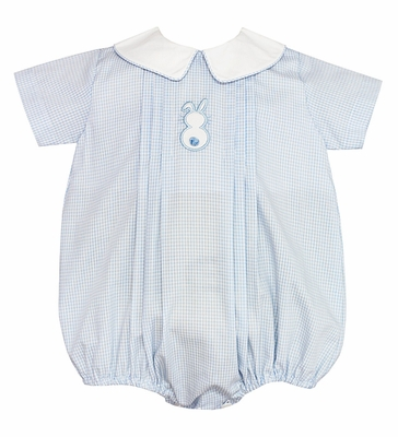 b7944c5a6 Petit Bebe Infant Boys Easter Bunny Blue Bubble Romper