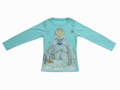 Lemon Loves Lime Girls Blue Tint Winter Princess Shirt