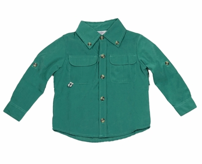 Prodoh Fishing Shirts for Boys or Girls - Forest Green Solid - No Logo