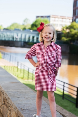 Prodoh fishing shirts for kids girls belted gingham for Prodoh fishing shirts