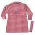 Prodoh Fishing Shirts for Kids - Girls Belted Gingham Dress - Red