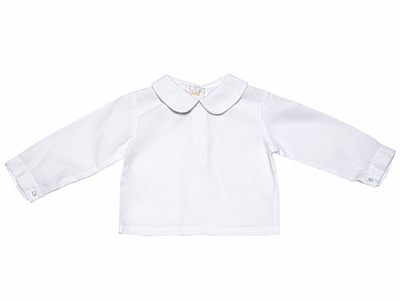 Rosalina Infant / Toddler Boys White Shirt with Collar - Long Sleeves