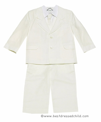 Sara Louise Little Boys IVORY Dress Suit - Blazer / Slacks / Shirt / Neck Tie / Vest