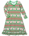 Sara's Prints Girls Green / Red Christmas Fair Isle Nightgown