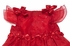 Sarah Louise Baby Girls Dressy Red Christmas Party Dress with Bows