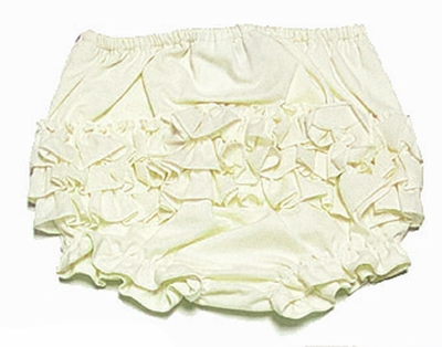 Sarah Louise Baby Girls Fancy Ruffled Diaper Cover / Bloomers - Lemon Yellow