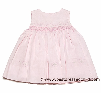 Sarah Louise Baby Girls Sleeveless Pink Smocked Easter Dresses