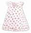 Sarah Louise Baby Girls White Dotted Swiss / Pink Floral Bouquets Dress