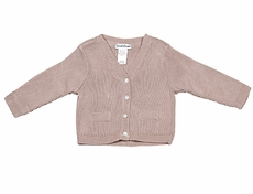 Sarah Louise Baby / Toddler Boys Cardigan Sweater - Mocha Brown