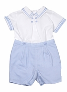 Sarah Louise Baby / Toddler Boys Double Breasted Button On - Light Blue