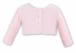 9530a7522c9 Sarah Louise Baby   Toddler Girls Scallop Cardigan Sweater - Pink