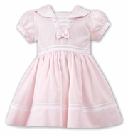 Sarah Louise Baby / Toddler Girls Classic Sailor Suit Dress - Pink