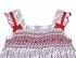 Sarah Louise Dani Baby / Toddler Girls Red / Navy Blue Dots Patriotic Smocked Sun Dress with Bows