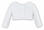 cc06e406239 Sarah Louise Baby   Toddler Girls Scallop Cardigan Sweater - Winter White