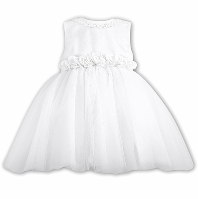 Sarah Louise Baby / Toddler Girls Sleeveless White Special Occasion Dress