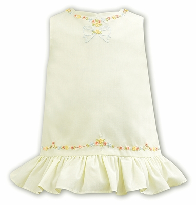 Sarah Louise Baby / Toddler Girls Sleeveless Yellow Dress - Floral and Bow Embroidery