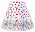 Sarah Louise Girls Fun Red Polka Dots Skirt with Buttons and Dancing Fairy Ballerinas