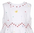Sarah Louise Girls Sleeveless White Smocked Dress - Flowers & Butterfly Border