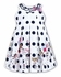 Sarah Louise Girls White / Navy Blue Dots Vacation Theme Sleeveless Sun Dress