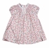 Sarah Louise Infant Girls Pink / Blue Floral Smocked Dress with Lace Trims