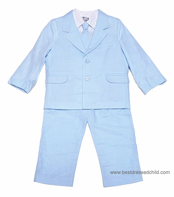 Sarah Louise Little Boys Light BLUE 5 Piece Dress Suits - Pants   Shirt    Vest   Necktie   Jacket a6e99c405