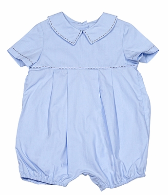 Sophie & Lucas Baby Boys Blue Bubble with Brown Stitches