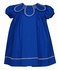 Sophie & Lucas Baby / Toddler Girls Petal Collar Dress - Royal Blue