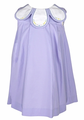 Sophie & Lucas Girls Sleeveless Petal Collar Dress - Lilac Lavender - Exclusively at The Best Dressed Child