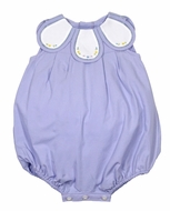 Sophie & Lucas Infant Girls Lilac Purple Bubble - Embroidered Petal Collar