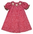 The Best Dressed Child Exclusive Girls Red / White Dots Smocked Green Apples Dress