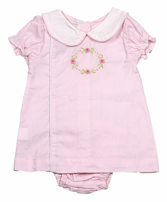 The Oaks Baby Girls Sweet Pink Floral Embroidery Diaper Set - Mary Kate