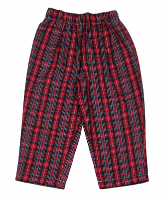 92415fbe9 The Oaks Baby / Toddler Boys Hudson Plaid Pants - Red Christmas Plaid