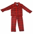 Tom & Jerry / Laura Dare Boys Red Christmas Holiday Plaid Tailored Pajamas