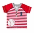 Wally & Willie Baby / Toddler Boys Red Striped Baseball Shirt