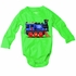Wes & Willy Baby Boys Green Onesie with Choo Choo Train - I Think I Can