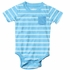 Wes & Willy Baby Boys Striped Onesie Shirt - Sky Blue