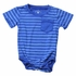 Wes & Willy Baby Boys Striped Onesie Shirt with Pocket - Royal Blue