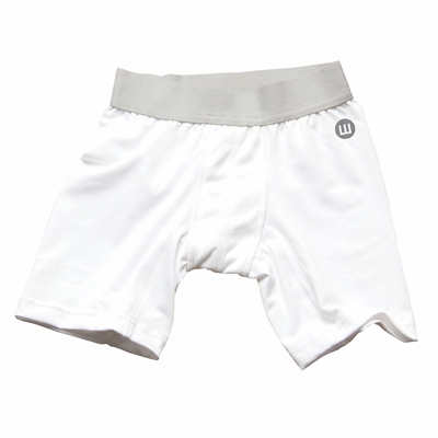 Wes & Willy Boys Basic White Compression Shorts