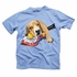 Wes & Willy Boys Blue Lacrosse Dog Tee Shirt