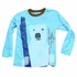 Wes & Willy Boys Blue Slub Polar Bear Ski Shirt