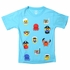 Wes & Willy Boys Blue Shirt with Emojis