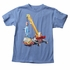 Wes & Willy Boys Blue Tee Shirt - Crane with Big Shark