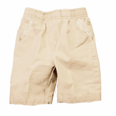 Wes & Willy Boys Elastic Waist Pull On Shorts - Sand
