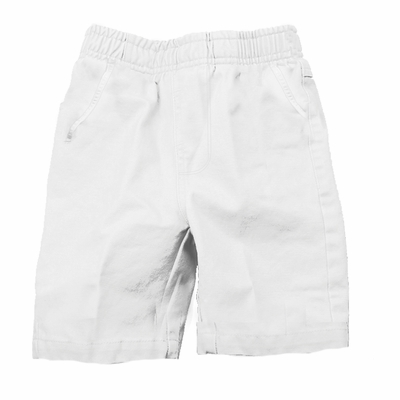 Wes & Willy Boys Elastic Waist Pull On Shorts - White