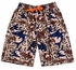Wes & Willy Boys Khaki Camo Sharks Print Swim Trunks